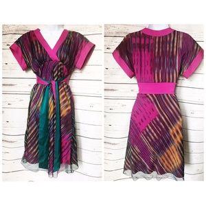 Catherine Malandrino printed chiffon silk dress, 0